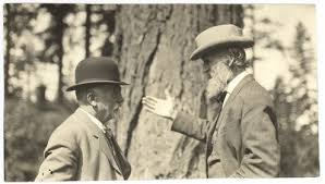 John McLaren and John Muir at McCloud River, California — Calisphere